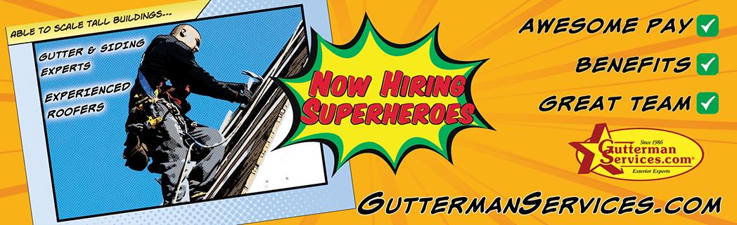 Aluminum Gutters From Gutterman Services